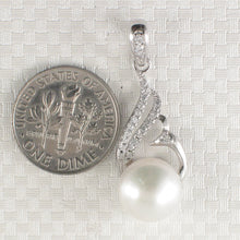 Load image into Gallery viewer, Beautiful White F/W Pearl Crafted Solid Silver 925 & Cubic Zirconia Pendant