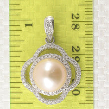 Load image into Gallery viewer, Beautiful Pink Cultured Pearl; Silver .925 & Cubic Zirconia Lovely Pendant