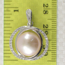 Load image into Gallery viewer, Beautiful Pink Cultured Pearls Solid Silver 925 & Cubic Zirconia Pendant