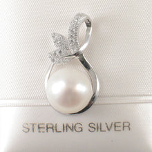 Load image into Gallery viewer, Beautiful White Cultured Pearls & Cubic Zirconia 925 Sterling Silver Pendant