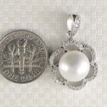 Load image into Gallery viewer, Beautiful Pendant Crafted from White Cultured Pearls Solid Silver 925 & C. Z.