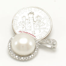 Load image into Gallery viewer, Unique Pendant Crafted from White Cultured Pearls, Solid Silver 925 & C.Z.