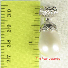 Load image into Gallery viewer, Solid Sterling Silver 925 & Genuine Baroque Nucleated Culture Pearl Pendant