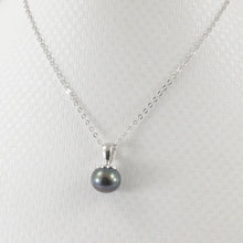 Load image into Gallery viewer, Black Freshwater Cultured Pearl Handcraft of Solid Sterling Silver 925 Pendant