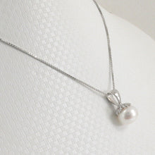 Load image into Gallery viewer, Solid Sterling Silver 925; White F/W Cultured Pearl Pumpkin Shape Pendant