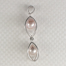 Load image into Gallery viewer, Sterling Silver 925 Lucky Lantern Design Natural Pink Cultured Pearl Pendant