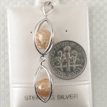 Load image into Gallery viewer, Solid Sterling Silver 925 Lucky Lanterns w/ Beige Cultured Pearl Pendant