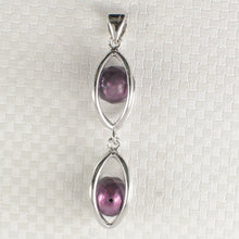 Load image into Gallery viewer, Sterling Silver 925 Lucky Lanterns Design Purple Cultured Pearl Pendant