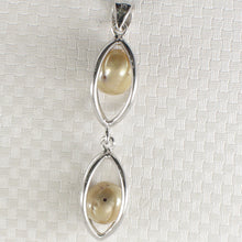 Load image into Gallery viewer, Sterling Silver 925 Lucky Lanterns Design Olive-Green Cultured Pearl Pendant