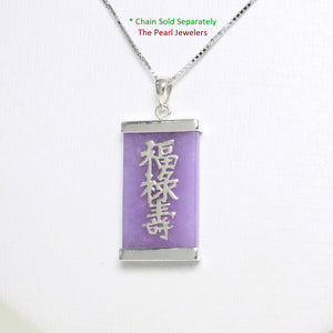 9210042-Sterling-Silver-Three-Stars-of-Luck-Tablet-Lavender-Jade-Oriental-Pendant