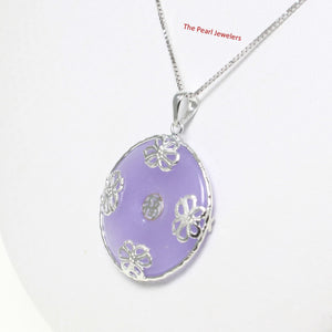 9210052-Solid-Sterling-Silver-Butterflies-Lavender-Jade-Cabochon-Pendant