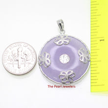 Load image into Gallery viewer, 9210052-Solid-Sterling-Silver-Butterflies-Lavender-Jade-Cabochon-Pendant