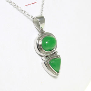 9210113-Unique-Design-Sterling-Silver-Oval-Triangle-Shaped-Green-Jade-Pendant