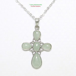 9210133-Solid-Sterling-Silver-Celadon-Green-Jade-Christian-Cross-Pendant