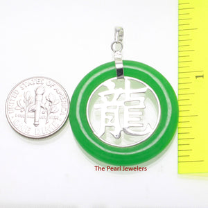 9210173-Solid-Sterling-Silver-Oriental-Dragon-Green-Jade-Pendant-Chain