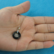 Load image into Gallery viewer, 9210221-Solid-Sterling-Silver-Good-Fortunes-Black-Onyx-Pendants
