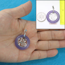 Load image into Gallery viewer, 9210242-Sterling-Silver-Good-Fortunes-Lavender-Jade-Oriental-Style-Pendant-Necklace