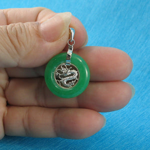 9210253-Green-Jade-925-Sterling-Silver-Dragon-Pendant-Necklace