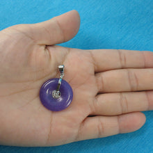 Load image into Gallery viewer, 9210262-Sterling-Silver-Good-Fortunes-Lavender-Jade-Cabochon-Pendant