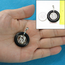 Load image into Gallery viewer, 9210281-Solid-Sterling-Silver-Lucky-Dragon-Black-Onyx-Pendant