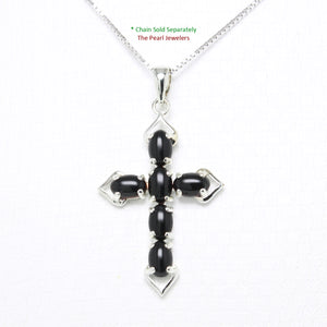 9210291-Christian-Cross-Pendant-Craft-Black-Onyx-Sterling-Silver