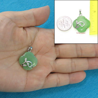 9210333-Sterling-Silver-Cubic-Zirconia-Green-Jade-Pendant