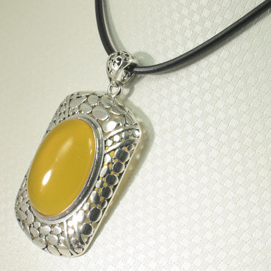 9210654-Solid-Sterling-Silver-Faceted-Oval-Yellow-Agate-Pendant-Necklace