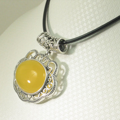 9210714-Solid-Sterling-Silver-Lucky-Lock-Design-Yellow-Agate-Pendant