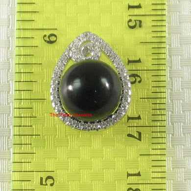 9219821-Beautiful-Black-Onyx-Pendant-Sterling-Silver-60-Cubic-Zirconia