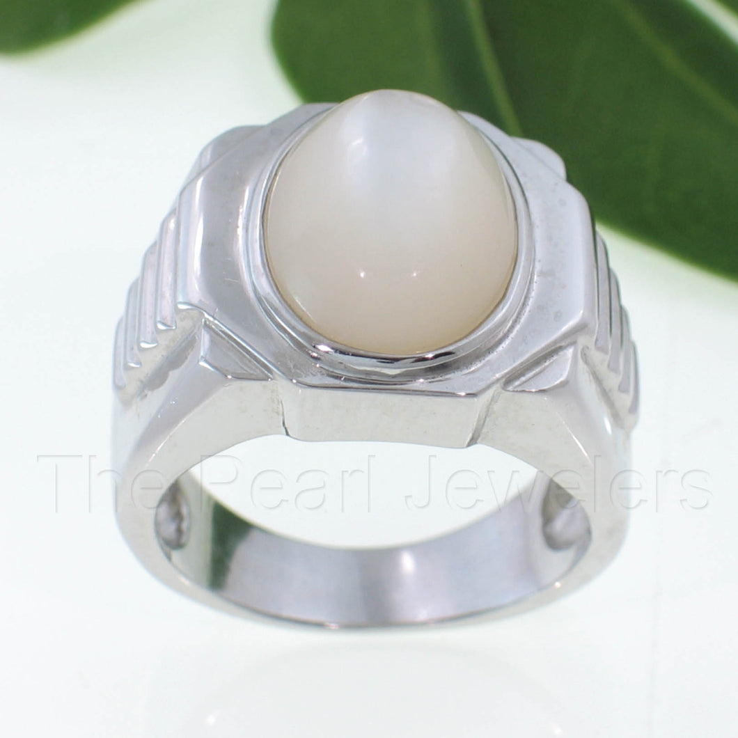 9310020-Sterling-Silver-Men's-Ring-Bezel-11x16mm-Mother-of-Pearl