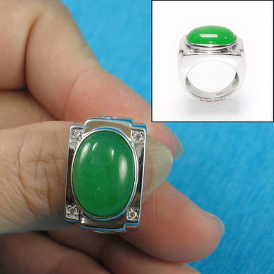 9310073-Solid-Sterling-Silver-Cabochon-Green-Jade-Cubic-Zirconia-Ring