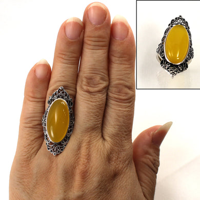 9310724-Antique-Style-Solitaire-Ring-Honey-Agate-Solid-Sterling-Silver