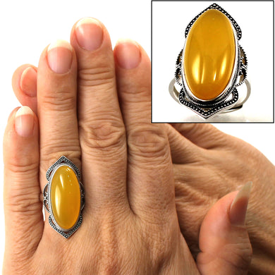 9310744-Solitaire-Ring-Adjustable-Size-Honey-Agate-Sterling-Silver