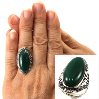 9310753-Adjustable-Size-Solitaire-Ring-Sterling-Silver-Green-Agate