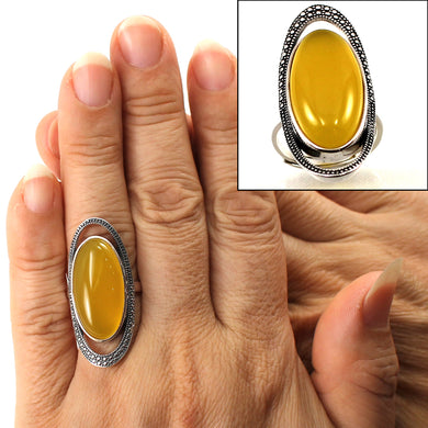 9310764-Solid-Sterling-Silver-Yellow-Agate-Solitaire-Ring-Adjustable-Size