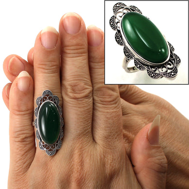 9310783-Adjustable-Solitaire-Ring-Size-Solid-Silver-Green-Agate