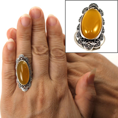 9310784-Adjustable-Solitaire-Ring-Size-Solid-Silver-Honey-Agate