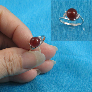 9312264-Solid-Sterling-Silver-Carnelian-Cubic-Zirconia-Cocktail-Rings
