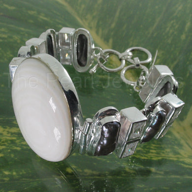 9400110-Mother-of-Pearl-Biwa-Pearls-Cubic-Zirconia-925-Solid-Silver-Bracelet