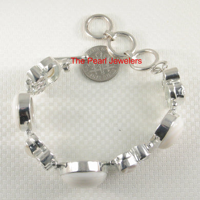 9400120-Silver-925-Mother-of-Pearl-White-Biwa-Pearls-Cubic-Zirconia-Bracelet