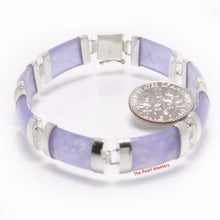 Load image into Gallery viewer, 9410132-Sterling-Silver-Featuring-Eight-Curved-Lavender-Jade-Bracelet