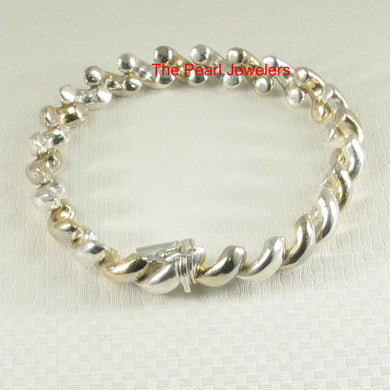 9430013-Sterling-Silver-Solid-Two-Toned-Braided-Saddle-Design-Bracelet