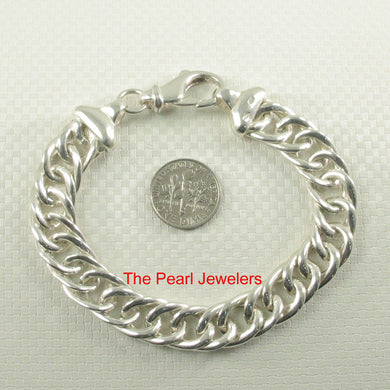 9430016-Italy-Solid-Sterling-Silver-.925-Links-Unique-Bracelet