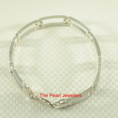 9430020-Solid-Sterling-Silver-.925-Link-Eight-Segments-Italy-Made-Bracelet