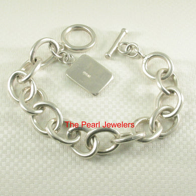 9430023-Unique-Vintage-Solid-925-Sterling-Silver-Thick-Chain-Link-Styled-Bracelet