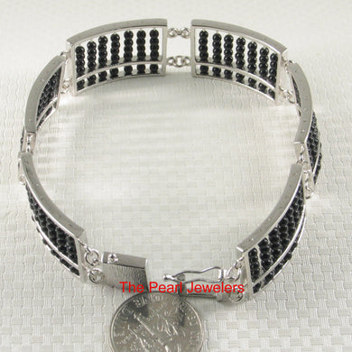 9438881-Handcrafted-Abacus-Design-Sterling-Silver-Black-Onyx-Bracelets