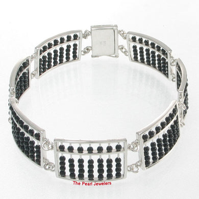 9438882-Solid-Sterling-Silver-Abacus-Handcrafted-Black-Onyx-Bracelets