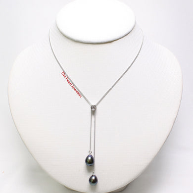 9600021-Cubic-Zirconia-Black-Pearl-Silver-925-Handcrafted-Necklace