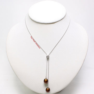 9600025-Hand-Crafted-Sterling-Silver-Cubic-Zirconia-Chocolate-Pearl-Necklace