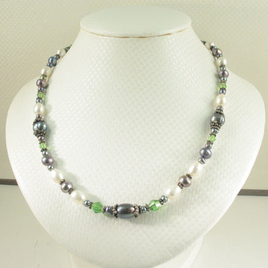 9600151-Beautiful-Combinations-Black-Pearls-Beads-Silver-Toggle-Clasp-Necklace